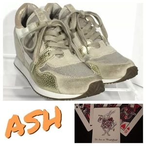 ASH Dean Wedge Sneakers 37 6.5/7 Womens Shoes